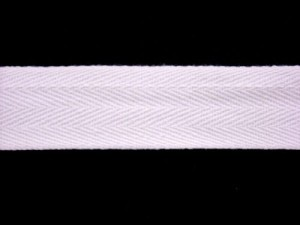 "Twill Tape - 1"" Cotton White"