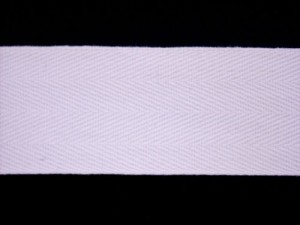 "Twill Tape - 1.5"" Cotton White"