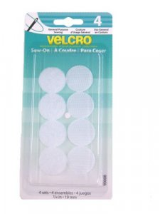 "Velcro- Sew On Dots .75"", 4 Sets White"