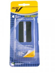 Velcro- Sticky Back Strips, 4 Sets Black