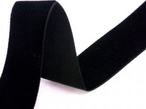 "Velvet Ribbon - Black - 7/8"" wide"