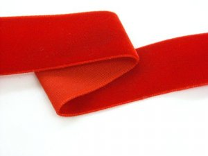"Velvet Ribbon - Red - 7/8"" wide"