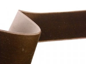 "Velvet Ribbon - Brown -1 1/2"" wide"