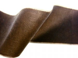 "Velvet Ribbon - Brown - 2"" wide"