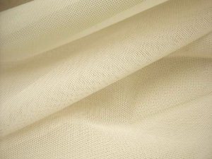 "Vera Sheer Stretch Mesh - Ivory 58"" wide"