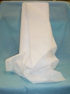 Voile - White Polyester/Cotton