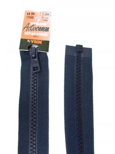 "YKK Separating Zipper - One Way Opening, 14"" - #560 Navy"