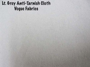 Wholesale Anti-Tarnish Silver Cloth - Lt. Grey, 25 yds.