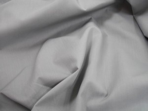 Broadcloth Fabric - Polyester-Cotton Blend - Silver