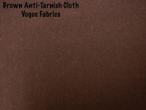 Wholesale Anti-Tarnish Silver Cloth - Brown, 100 yds.
