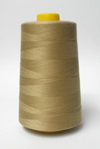 Wholesale Serger Cone Thread - Camel 725  -    50 spools per case - 4000yds per spool