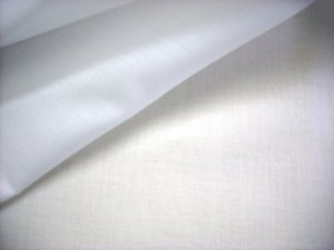 "Wholesale Combed Cotton Batiste - 45"" White, 40 yds."