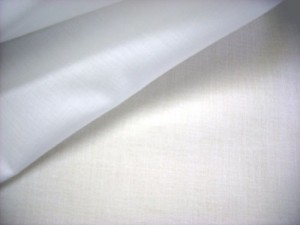 "Combed Cotton Batiste Fabric - 45"" White"