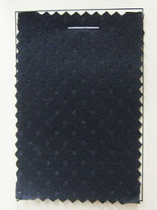 Coutil - Black Spot Corseting Fabric, priced per 1/2 yard