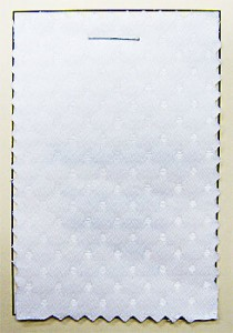 Coutil - White Spot Corseting Fabric, order in 1/2 yard