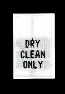 Wholesale Clothing Labels - Dry Clean Only,     1,000