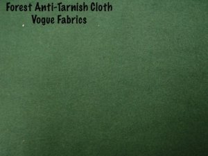 Wholesale Anti-Tarnish Silver Cloth - Forest Green, 25 yds.