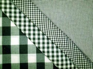 Wholesale Gingham Check Fabric - Hunter - 20yds