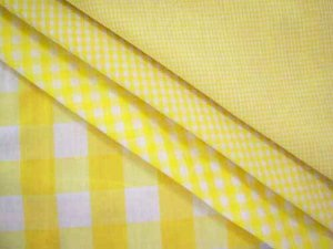 Wholesale Gingham Check Fabric - Yellow - 20yds