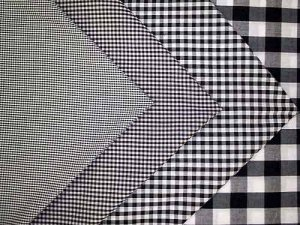 Wholesale Gingham Check Fabric - Black, 20yds