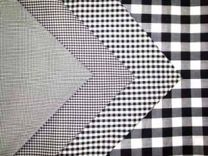 Gingham Check - Black/ White