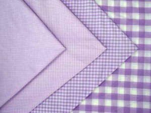 Gingham Check- Lilac/ White