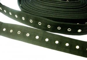 Wholesale Corset Lacing Tape - Black Bone Casing with Nickle Grommets - 5 yds