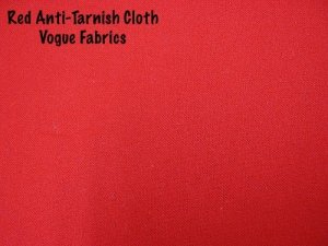 Wholesale Anti-Tarnish Silver Cloth - Red, 100 yds.