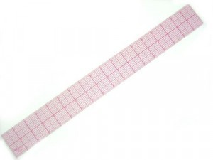 "Tailoring Supplies 18"" Transparent Ruler #808B-A -  18 inch x 2 inch Full grid"