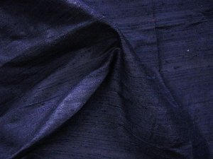 Thai Silk Dupioni - Dark Navy