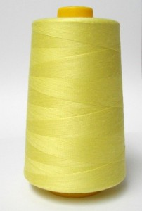 Wholesale Serger Cone Thread - Yellow 712  -    50 spools per case - 4000yds per spool