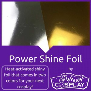 Power Shine Foil by Sew Much Cosplay - Vinyl-backed Iron-on foil fabric