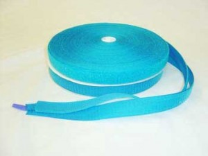 "Hook & Loop - Wholesale 25 yds - 1"" Sew-In Neon Blue"