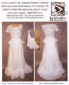 Laughing Moon #102 - Ladies' Victorian Corset Covers, Petticoats & Bustle Sewing Pattern