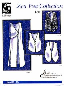 L.J. Designs #799, Zea Vest Collection