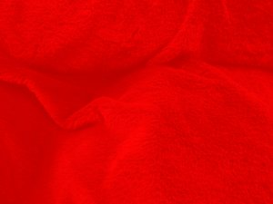 Luxury Faux Fur Fabric - Rabbit - Red