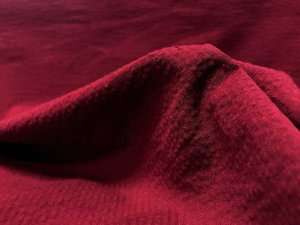Classic Seersucker Fabric - Burgundy