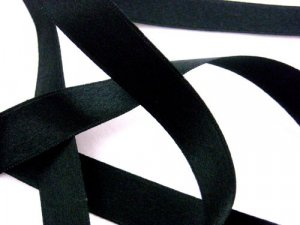 "Wholesale Silk Satin Ribbon 1/2"" Black"