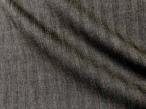 VF176-17 Kranse Herringbone - Camel and Black Shimmering Wool Blend Suiting Fabric