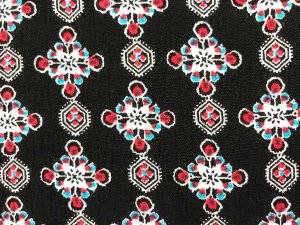 VF184-47 Aircrew Gems - Ruby and Turquoise Rayon Print
