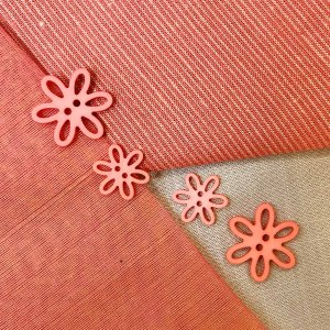 VF193 Button - Coral Flower in two sizes