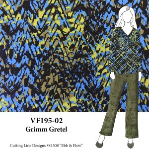 VF195-02 Grimm Gretel - Small Abstract Print on Stretch Cotton Broadcloth Fabric