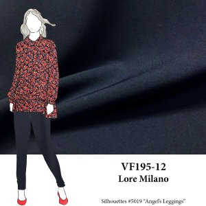 VF195-12 Lore Milano - Superior Navy Blue Ponte di Roma Double Knit Fabric - 300GSM