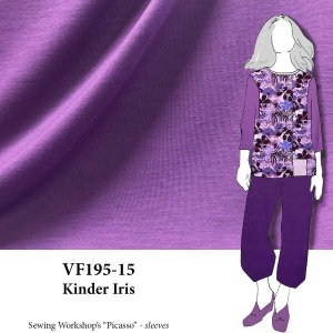 VF195-15 Kinder Iris Onionskin Knit Fabric with Soft Face