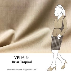 VF195-34 Briar Tropical - Camel Lightweight Wool Suiting Fabric