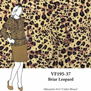 VF195-37 Briar Leopard - Lightweight Pebble Crepe Print Fabric