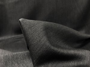 VF195-39 Aschen Wool - Grey Worsted Wool Flannel Suiting Fabric