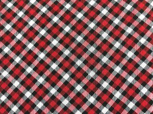 VF196-03 Highlander Scotty - Red-Black-White Diamond Check Polyester Crepe Georgette Fabric