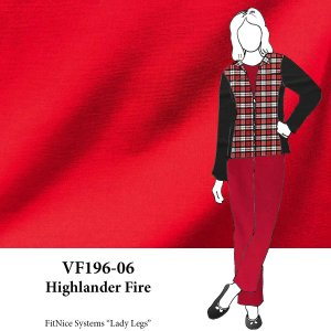 VF196-06 Highlander Fire - Red Ponte di Roma Double Knit Fabric
