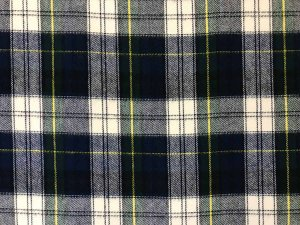 VF196-14 Culloden HIpster - Green-Navy-Ivory Plaid Plush Cotton Flannel Fabric from Robert Kaufman